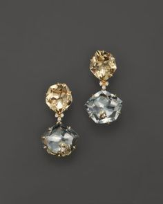 VIANNA BRASIL 18K Yellow Gold Earrings with Yellow Light Citrine, Prasiolite and Diamond Accents | Bloomingdale's