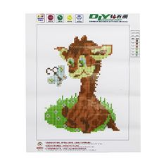 5D DIY Diamond Painting Cute Pony Embroidery Cross Stitch Kit Wall Home Decor 25*30CM #Affiliate