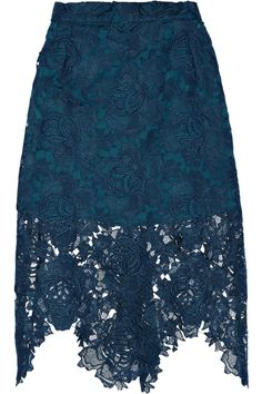 House of Holland embroidered lace skirt is half lined in satin for a peek-a-boo effect.