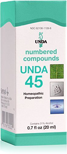 UNDA  UNDA 45 Numbered Compounds  Homeopathic Preparation  07 fl oz 20 ml * For more information, visit image link. Note: It's an affiliate link to Amazon.