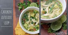 Chicken Avocado Soup (ljc: I'd add another piece of chicken next time, especially if the breasts/thighs are small)