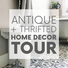 Raise your hand if you love antique home decor. Raised both hands? You've come to the right place! Here's a home tour featuring antique and thrifted finds. Antique Chairs, Antique Decor, Vintage Decor, Rustic Decor, Home Decor Styles, Home Decor Items, Rocking Chair Cushions, Antique Chest, Eco Friendly House