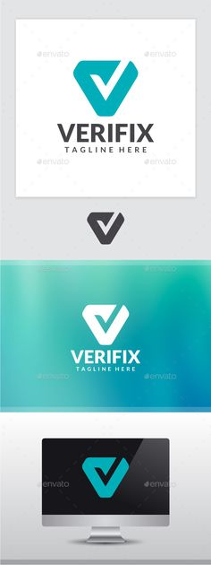 Verifix Letter V Logo Photoshop PSD letter Available here g - App Templates - Ideas of App T V Logo Design, Lettering Design, Logo Creation, App Logo, Education Logo, Folder Design, Letter Logo, Creative Logo, Cool Logo