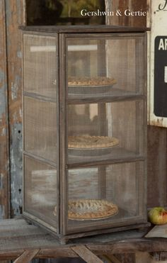 So darling! I want this - Grandma's Window Screen Pie Safe (new, not vintage)