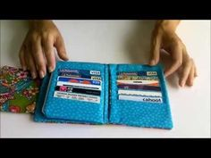 The Ultimate Wallet sewing pattern - Great tutorial and video... makes great Christmas gifts