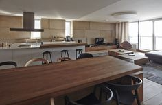 Open Plan Living, Riverside Apartment in Bratislava, Slovakia
