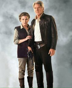 General Leia Organa and Han Solo. Star Wars: The Force Awakens.