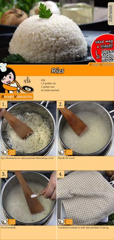 Rizs recept elkészítése videóval No Salt Recipes, Veggie Recipes, Cooking Recipes, Hungarian Recipes, Winter Food, Bon Appetit, Meal Prep, Food To Make, Side Dishes