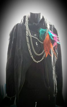 Simplicity with a touch of Miss D jewelry chain with multicolor necklace