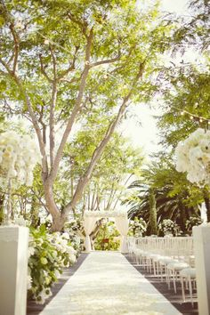 Love this #aisle surrounded by trees