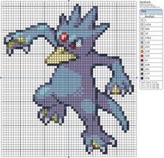 Pokémon – Golduck 50-60 x 60-70, Birdie's Patterns, Disney, Gaming, Golduck…