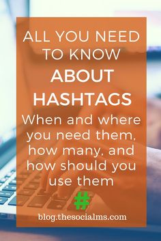 How many hashtags should you use in which social network? Too many hashtags can be bad. Unlock social media success by using the right number of hashtags. Social Media Marketing Business, Social Media Tips, Social Networks, Online Marketing, Digital Marketing, Mobile Marketing, Affiliate Marketing, Marketing Quotes, Marketing Books