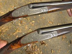 Purdey, London- Matched Pair 20 Ga. Ejector Game Guns Engraved by Powell, 1992