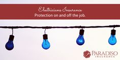 Protection on and off the job. #ElectriciansInsurance #CTins #Electric #Lights