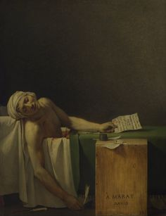 Jacques-Louis David, Der Tod des Marat, 1793, Buch: Die Macht der Mitt, Rudolf Arnheim