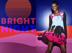 "Kenyan-Born Model Yaya Deng For Peter Alexander Sleepwear ""Bright Nights"""