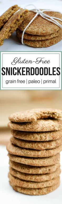 Gluten-Free Snickerdoodles - With eight simple ingredients, you can make a batch of these grain free snickerdoodles that are perfectly chewy on the inside and crispy on the outside. #paleo #primal #glutenfree    via @preparenourish