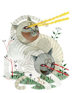 Laser cat print $15. I don't know if I think this is hilarious, of if I want to frame it and put it above my desk.