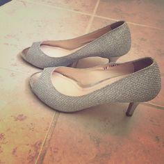 Metallic heels 2.5 inch peep toe heel. Korean brand size 225 or US 5.5. Never worn. Shunide  Shoes Heels