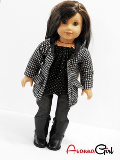 American Girl Doll Coat Handmade Oxford Square Hooded Coat – Avanna Girl