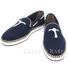 エルメス シューズ オプティミスト モカシン キャンバス Optimiste メンズサイズ42 HERMES メンズ 靴