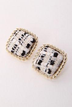 MiiA ツイードピアス /MiiA Earrings on ShopStyle