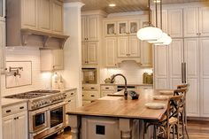 Country Style House Plan - 4 Beds 4.5 Baths 4852 Sq/Ft Plan #928-1 - Houseplans.com Country House Design, Country Style House Plans, Kitchen Interior, New Kitchen, Kitchen Ideas, Country Interior, Low Country Homes, Country Farmhouse, Country Kitchen