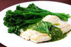mahi mahi with chimichurri sauce and broccolini » Gimme Some Oven