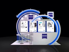 Zeiss Exhibition Stall, Exhibition Booth Design, Pos Display, Kiosk Design, Stage Design, Design Reference, Visual Merchandising, Exhibitions, Design Inspiration