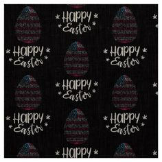 Happy Easter and Easter egg with American flag Fabric - happy easter egg holiday family diy custom personalize