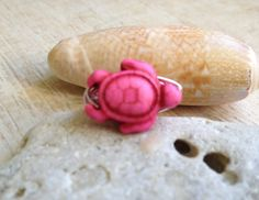 Turtle Ring Pink  Size 7 Sea Turtle Ring by BeachDaisyJewelry, $7.00