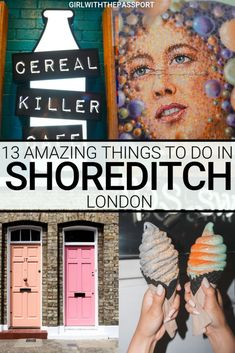 The London neighborhood of Shoreditch is a hipster, chic place that is filled with vibrant street art, amazing street food, killer vintage markets, and charming historic buildings. So check what to do in Shoredttch and discover the 13 most amazing and fun London Neighborhoods, London Restaurants, Reisen In Europa, Street Art, Street Food, London Food, Things To Do In London, Vintage Market, London Travel