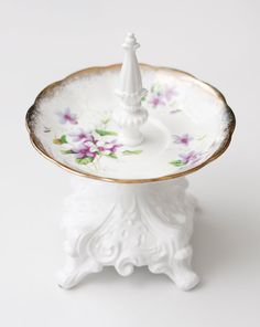 Pretty Jewelry/Ring Holder ? Purple Flowers Royal Albert Vintage Saucer ? Wedding Gift, Engagement Gift, Bridesmaid Gift