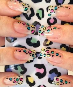 Leopard Nail Art Design for Clear Nails