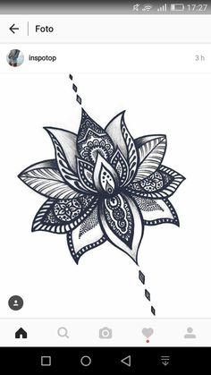 244 me gusta en la piel tatuaj mandala, tatuaj dantelă e idei tatuaje. Trendy Tattoos, Small Tattoos, Tattoos For Women, Cool Tattoos, Body Art Tattoos, Stomach Tattoos, Lotus Flower Mandala, Lotus Flower Tattoo Design, Tattoo Flowers