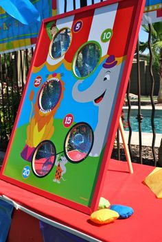 Carnival Birthday Party - Bean Bag Toss - repaint the Wonderland cutout?