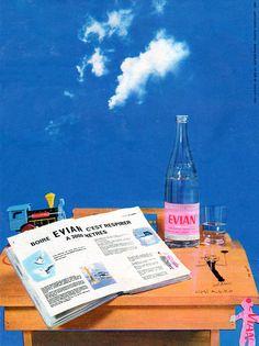Publicité Evian 1963 - eau minérale -