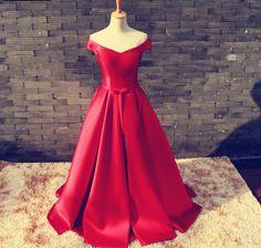 Cherie red formal gown cigarette holder 10