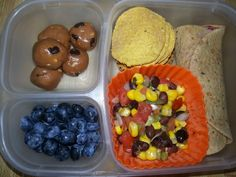 Easy Healthy School Lunch Ideas, Prepped Ahead, packed with  antioxidants, vitamin B & C, iron. Balanced meals, something from each food group.