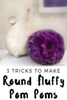 3 Tricks to Making Soft Fluffy Pom Poms Quickly : 3 tricks to making round fluffy pom poms quickly and easily. Includes a bonus tutorial on how to make a big pom pom heart Crafts For Teens To Make, Easter Crafts For Kids, Crafts To Sell, Craft Stick Crafts, Easy Crafts, Diy And Crafts, Craft Ideas, Play Ideas, Decor Crafts