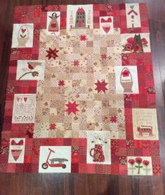 Red Home Quilt (central block)