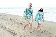 Camicia fantasia Hawaiian, bermuda e felpa in cotone con cappuccio Surf Shack #SurfShack