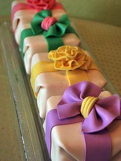 Fondant-wrapped Cakes