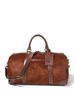 f95f89d0b8 Suede Duffel Bag - Polo Ralph Lauren New Arrivals - RalphLauren.com Duffle Bag  Travel