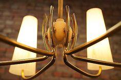 50er VINTAGE TÜTENLAMPE DECKENLAMPE Mid Century LEUCHTE LAMPE LAMP LIGHT 50s