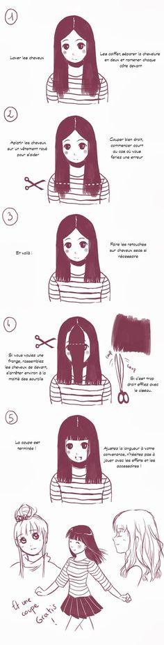 Ce couper les cheveux sois-même facilement.