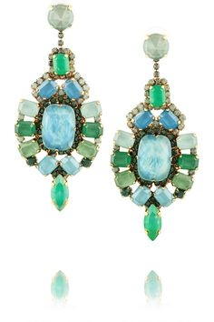 Erickson Beamon | Aerin gold-plated Swarovski crystal drop earrings | NET-A-PORTER.COM