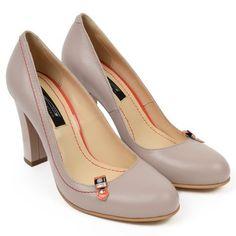 Pantofi din Piele Naturala Nude