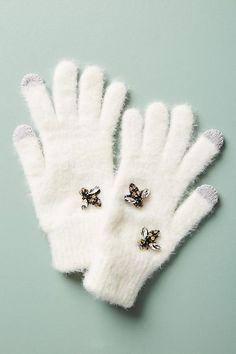 Bee Embellished Gloves