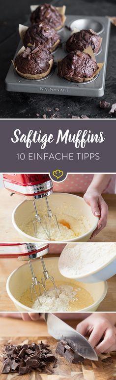 Klein, handlich und groß im Geschmack: Muffins gehen immer. Die besten Tipps wie sie wunderbar fluffig werden gibt's hier.
